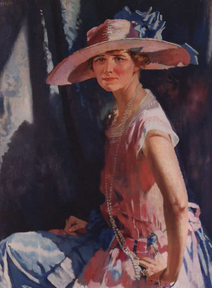 Susan Clark Vanderpoel, huile sur toile de William Newenham Montague Orpen (1878-1931, Ireland)