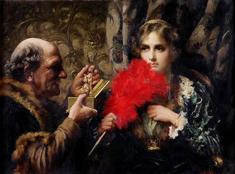 tentation, 1914 de Thomas Benjamin Kennington (1856-1916, United Kingdom)