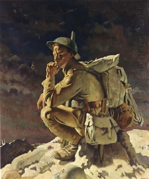 Le Penseur, 1918 de William Newenham Montague Orpen (1878-1931, Ireland) | Reproduction Peinture | ArtsDot.com