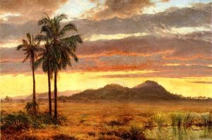 Louis Remy Mignot - Paysage Tropical