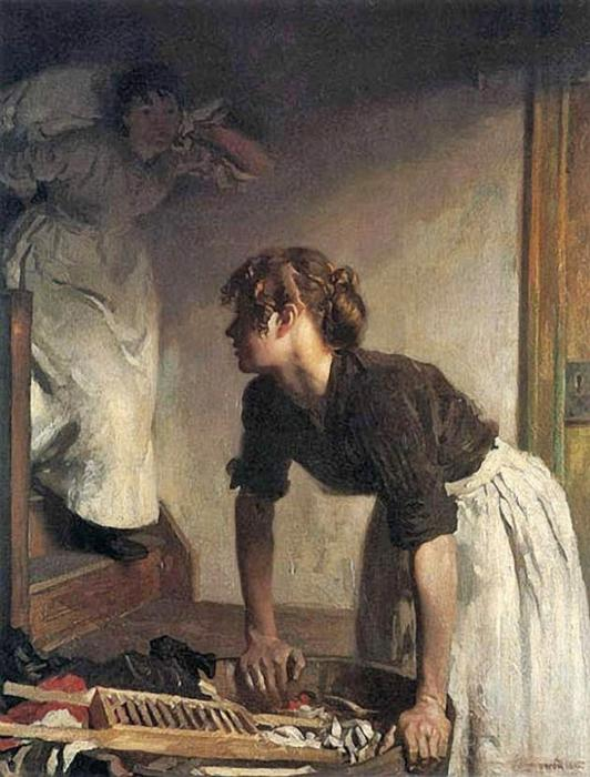 Le lavage maison de William Newenham Montague Orpen (1878-1931, Ireland)
