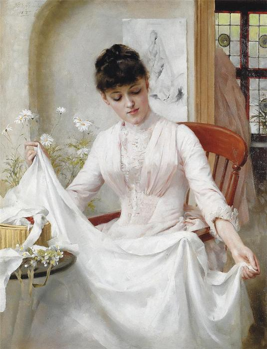 le mariage robe de Thomas Benjamin Kennington (1856-1916, United Kingdom)