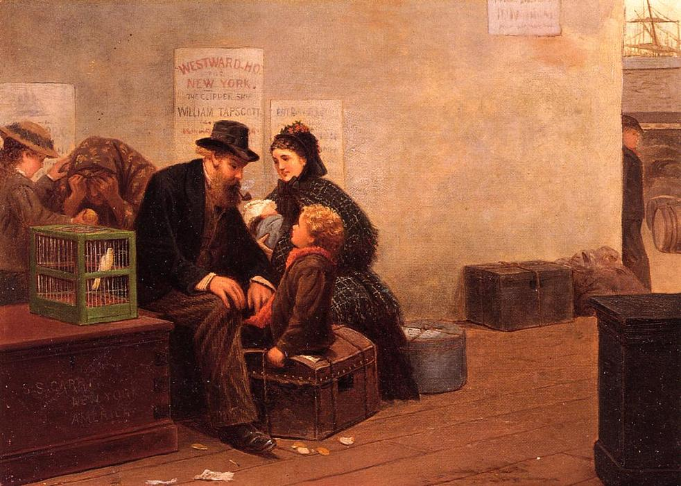 Westward Ho pour New York de Samuel S Carr (1837-1908, United Kingdom) | Copie Tableau | ArtsDot.com