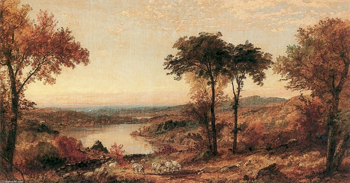Wyoming Valley, Pennsylvanie, huile sur toile de Jasper Francis Cropsey (1823-1900, United States)