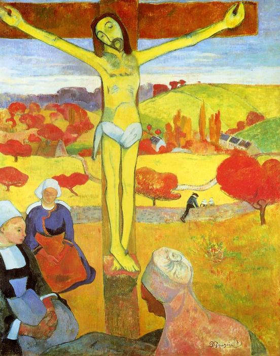 jaune jésus christ, 1889 de Paul Gauguin (1848-1903, France) | Reproductions De Peintures Paul Gauguin | ArtsDot.com