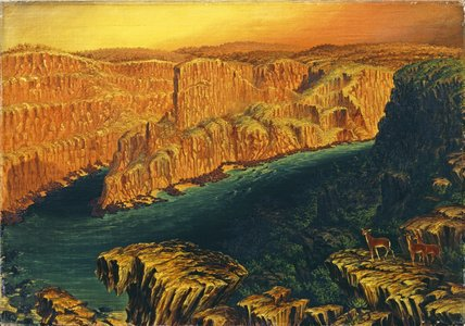 Gorge dessous Victoria Falls dans le Lower Zambezi de Thomas Baines (1820-1875, United Kingdom)