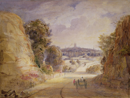 View Of Wolverhampton de Thomas Charles Leeson Rowbotham (1823-1875, United Kingdom)