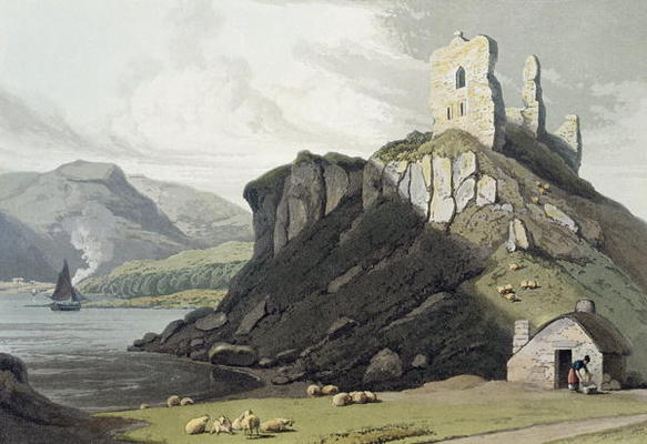 Château Arros, Isle Of Mull, De un Voyage autour Grande-Bretagne Entrepris de Thomas And William Daniell (1769-1837, United Kingdom)