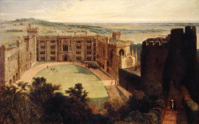 arundel` château issus à l continuer de Thomas And William Daniell (1769-1837, United Kingdom)