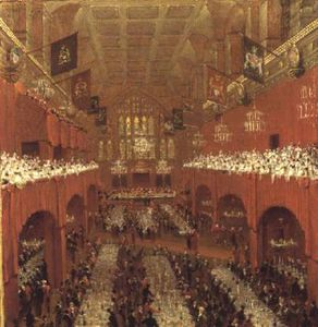 Thomas And William Daniell - Le alliées Souverains banquet ..