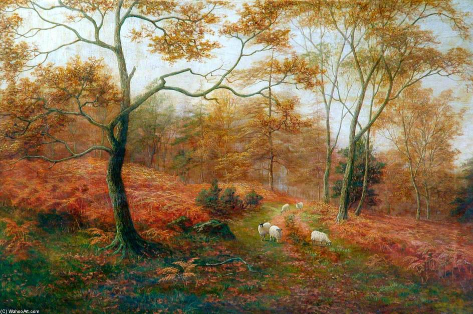 Bolton Woods, Yorkshire de William Mellor (1851-1931, United Kingdom)