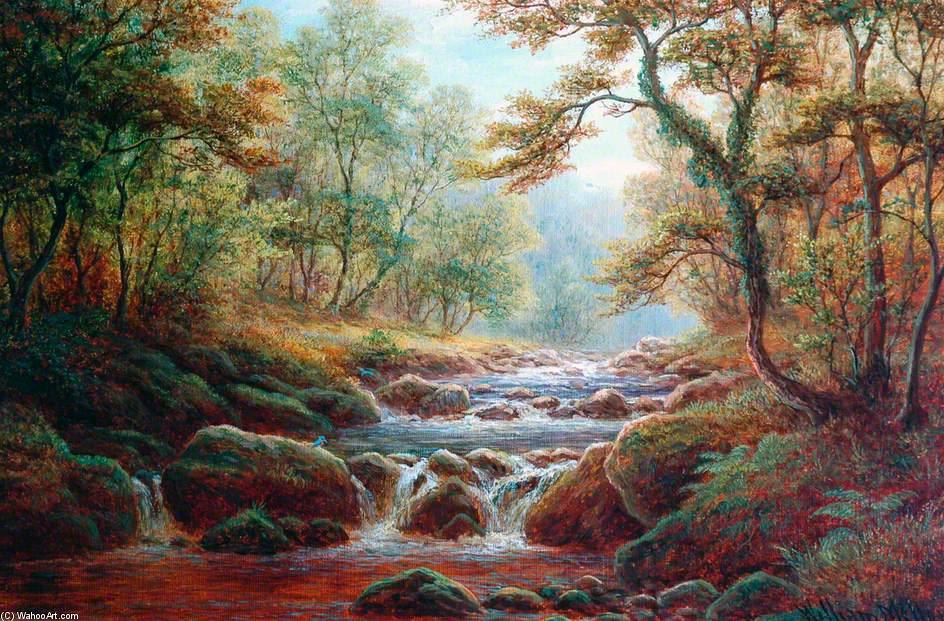 Posforth Ghyll, Bolton Bois de William Mellor (1851-1931, United Kingdom) | Reproductions De Qualité Musée | ArtsDot.com