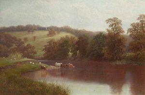 William Mellor - Le Wharfe, Près de Ilkley