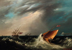 John Wilson Carmichael - Riding Out A Gale