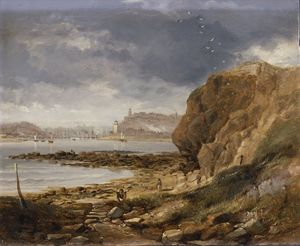 John Wilson Carmichael - Shields From The Harbour Mouth