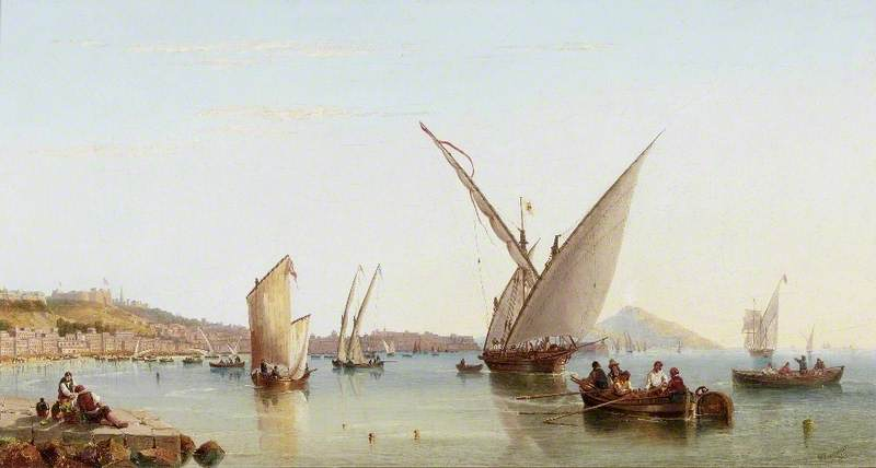 expédition en le baie des naples de John Wilson Carmichael (1800-1868, United Kingdom)