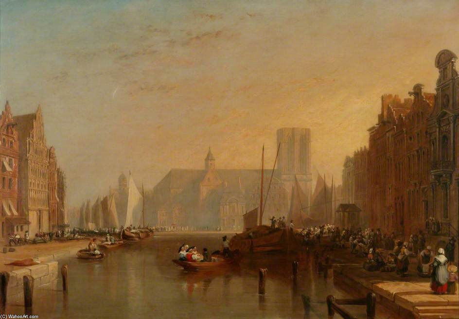 Vue de Gand de Augustus Wall Callcott (1779-1844, United Kingdom) | Reproduction Peinture | ArtsDot.com