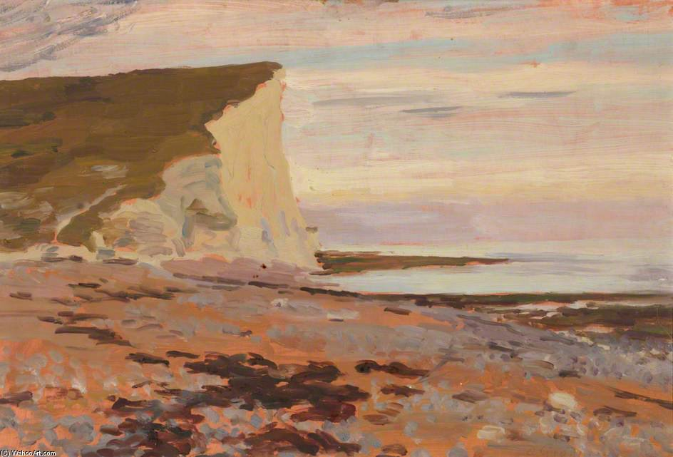 Cuckmere Havre , 'the Blancs Cliffs' de Duncan Grant (1885-1978, Scotland)