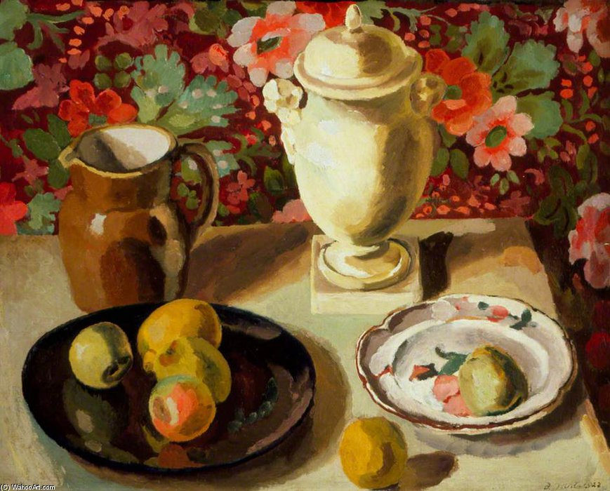 nature morte de Duncan Grant (1885-1978, Scotland) | Reproduction Peinture | ArtsDot.com