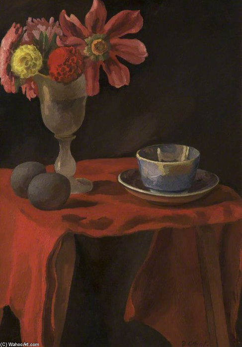 nature morte avec table de Duncan Grant (1885-1978, Scotland)