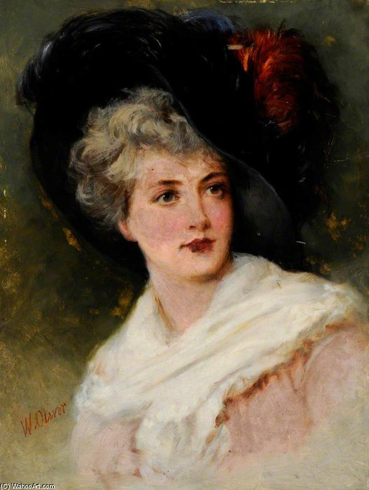 une dame de William Oliver (1805-1853, United Kingdom) | ArtsDot.com