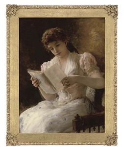 William Oliver - portrait d une dame , Assis Th..