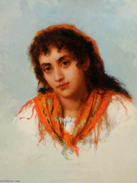Le Gipsy de William Oliver (1805-1853, United Kingdom) | ArtsDot.com