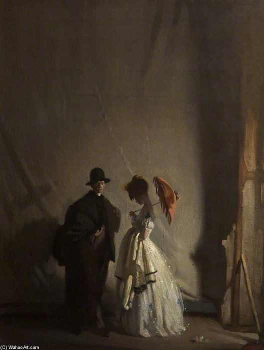 derrière le scènes de William Newenham Montague Orpen (1878-1931, Ireland)