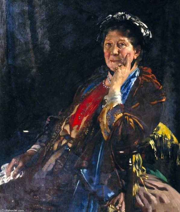 Dame Madge Kendal de William Newenham Montague Orpen (1878-1931, Ireland)