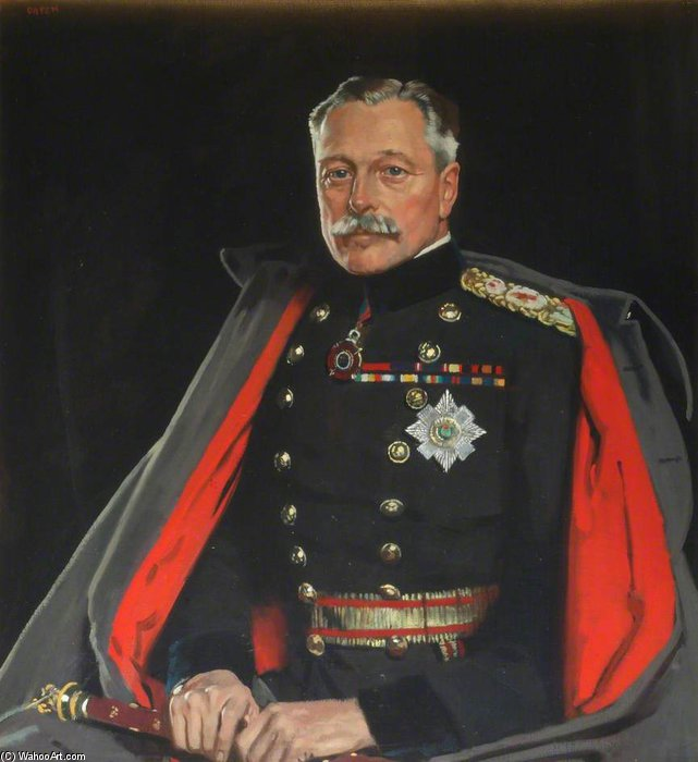 Première Earl Haig, le feld-maréchal de William Newenham Montague Orpen (1878-1931, Ireland)