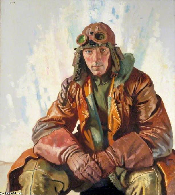 Le lieutenant d aviation non-officier, Royal Flying Corps de William Newenham Montague Orpen (1878-1931, Ireland)