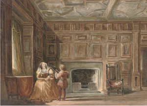 Joseph Nash The Younger - Un appartement à Haddon Hall, ..