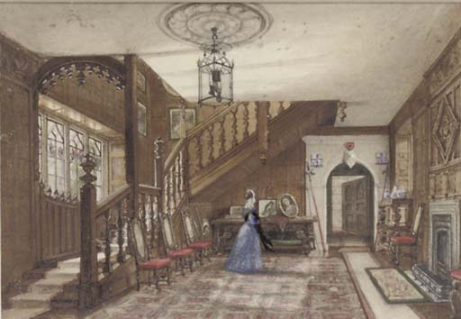 intérieur dun gothique  maison  de Joseph Nash The Younger (1835-1922, United Kingdom)