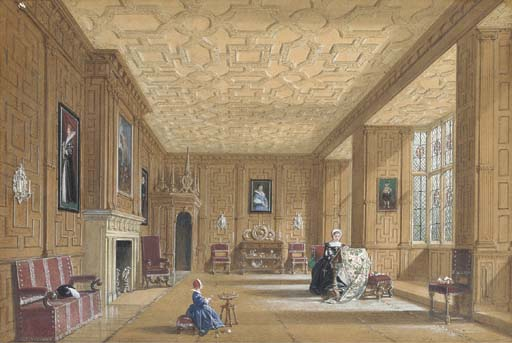 oak room Au Introduit le castle près de banbury , Oxfordshire de Joseph Nash The Younger (1835-1922, United Kingdom)