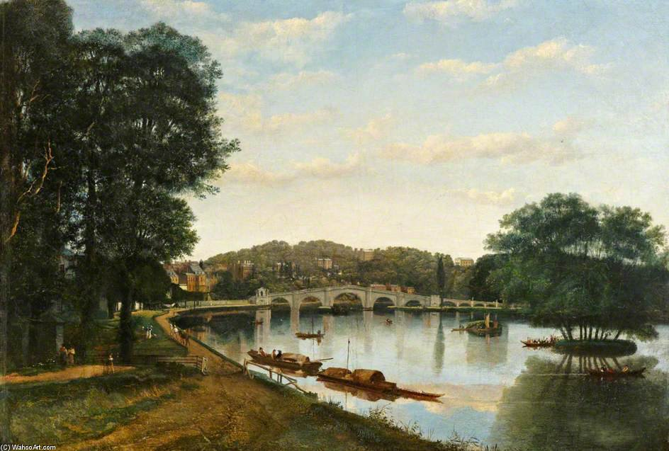 Richmond Bridge de Patrick Nasmyth (1787-1831, United Kingdom)