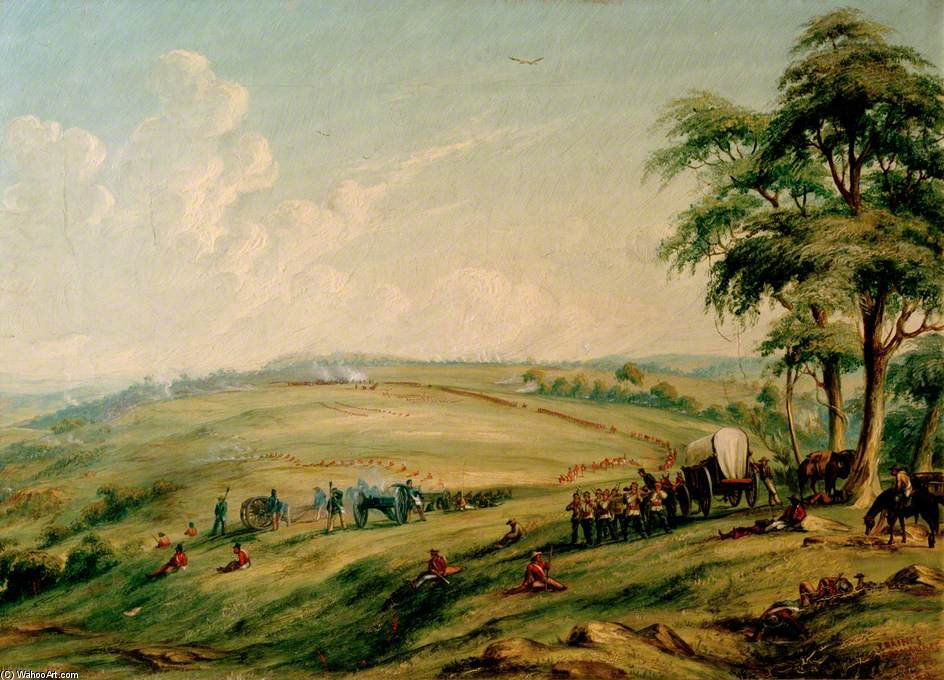 Engagement Sur hauteurs Waterkloof de Thomas Baines (1820-1875, United Kingdom)