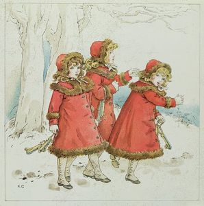 Kate Greenaway - 'winter' d'avril Baby's livre ..
