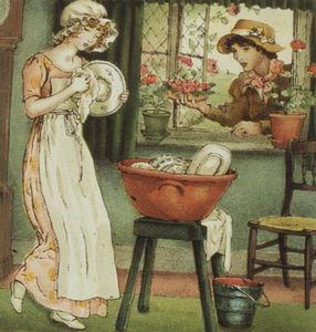 Kate Greenaway - Curlylocks Tirées 'april Baby'..