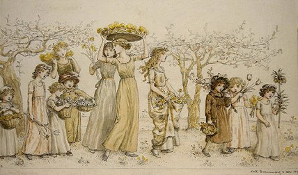 printemps de Kate Greenaway (1846-1901, United Kingdom)