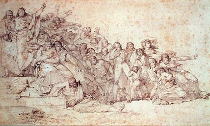 Massacre Of The Patriots au Champ de Mars, - (17) de Louis Lafitte (1770-1828, France)