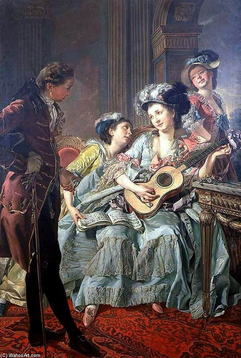 The Courtship de Louis Rolland Trinquesse (1746-1799, France) | ArtsDot.com