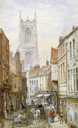 A View Of Irongate, Derby de Louise Rayner (1832-1924, United Kingdom)