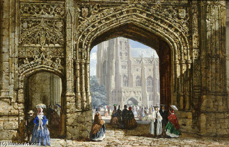 Canterbury Cathédrale de Louise Rayner (1832-1924, United Kingdom)