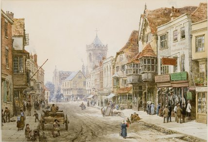 High Street, Salisbury de Louise Rayner (1832-1924, United Kingdom)