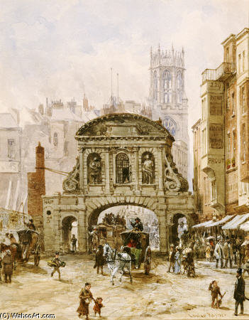 Temple Bar , Londres de Louise Rayner (1832-1924, United Kingdom)