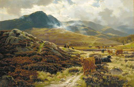 Highland Drovers repos de Henry Hadfield Cubley (1858-1934, United Kingdom)