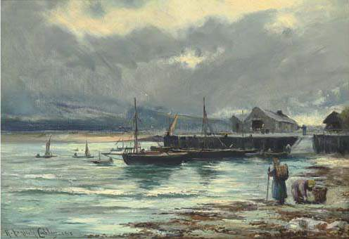 Le port de Barmouth de Henry Hadfield Cubley (1858-1934, United Kingdom)