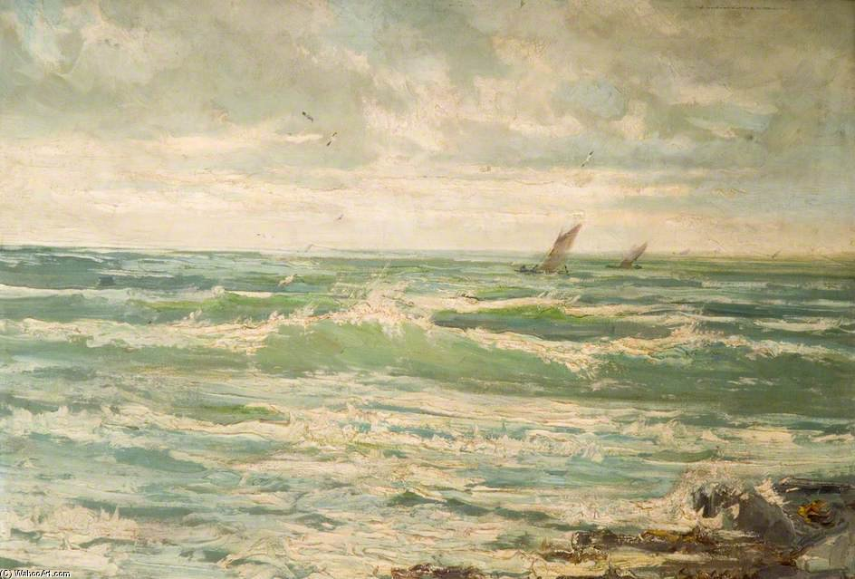 Le Incoming Tide de Henry Hadfield Cubley (1858-1934, United Kingdom)