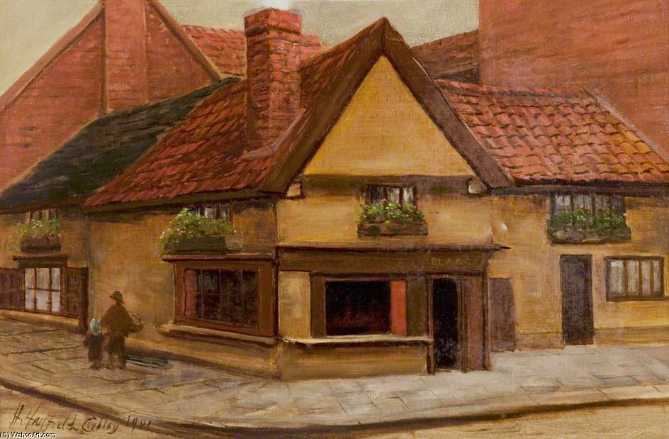 L Old Shop, Newark, Nottinghamshire de Henry Hadfield Cubley (1858-1934, United Kingdom)