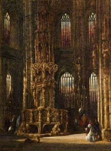 Henry Thomas Schafer - Intérieur Of Le Church Of r Lawrence , Nuremberg , Germany